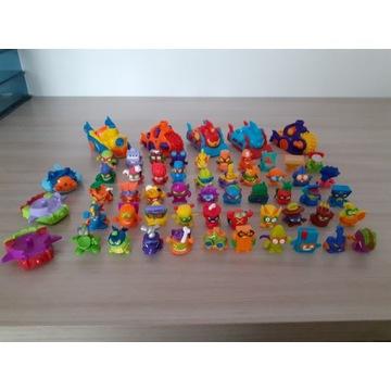 Super Zings, figurki, komplet 40 sztuk plus 8 poja