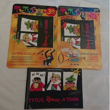 Tytus Romek i Atomek ks 1 reedycja 1,2,3