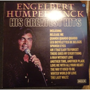 Winyl Engelbert Humperdinck, HIS GREATEST HITS