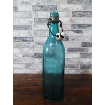 Stara butelka do piwa sygnowana huta Ujście
