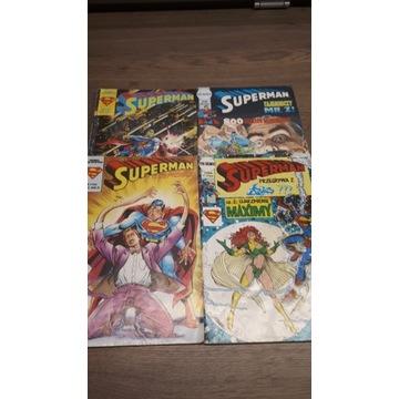 Komiksy stare Superman - 4 szt