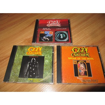 Zestaw 3 płyt CD --- OZZY OZBOURNE