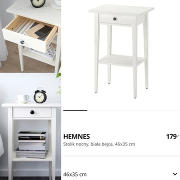 Dwa stoliki Hemnes, białe złożone