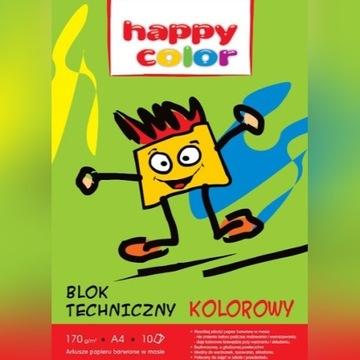 Blok techniczny kolorowy A4/10K 9szt.
