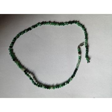 Korale zielone AGAT kuleczki rękodzieło