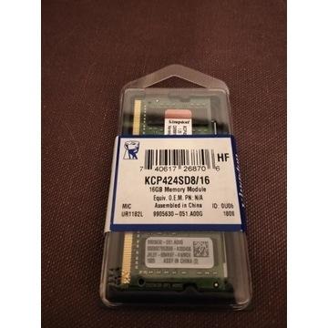 Nowa 16 GB Kingston DDR4 2400 Mhz