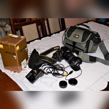 Nikon 18 200 VR II + Nikon 5100 i akcesoria