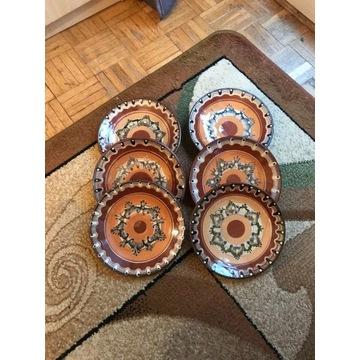 Talerze dekoracyjne ceramiczne Trojan Bułgaria