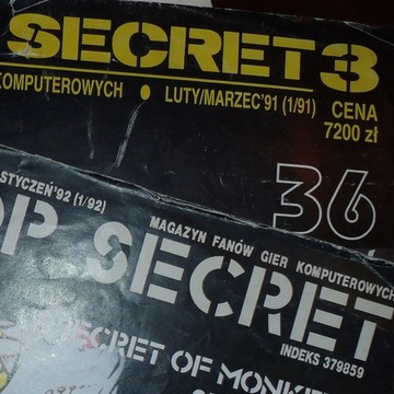 Czasopisma TOP SECRET nr 3 1/91, 8 1/92