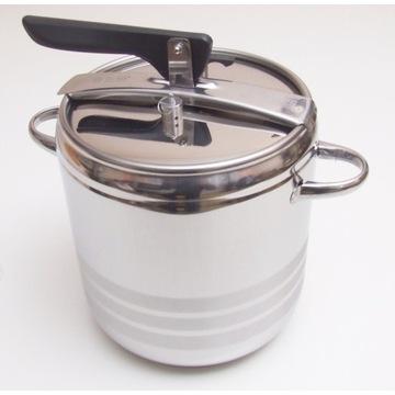 Szybkowar stalowy 11L 24x24cm 1,1 bar indukcja/gaz