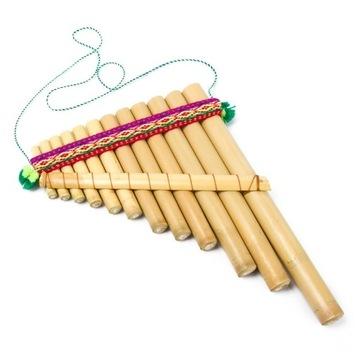 Fletnia Pana instrument etniczny Peru indiańskie