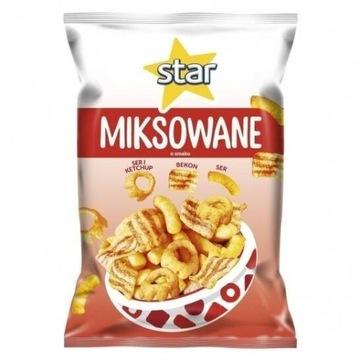 Star chips miksowanie smakbekon ,ser ser i ketchup