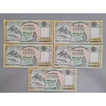 Nepal - 100 Rupees (5 sztuk)