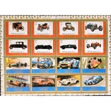 Motoryzacja - AJMAN** 1973 (duży arkusz)