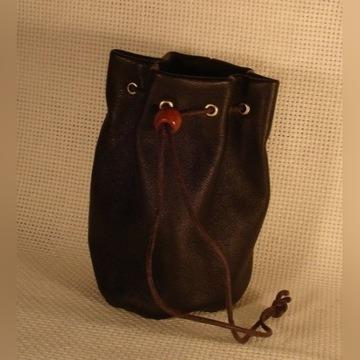 skóra sakiewka woreczek portfel na monety