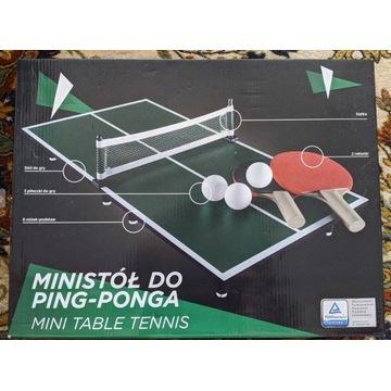 Ministół do ping-ponga - zestaw - tenis stołowy