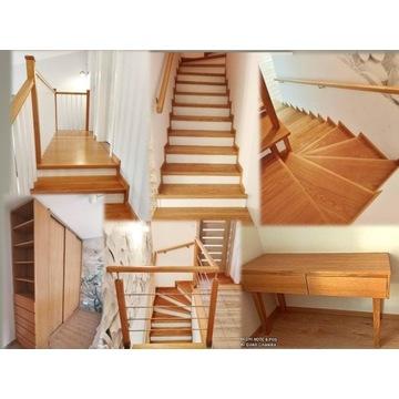 DREWNIANE meble schody drzwi JAKOŚĆ