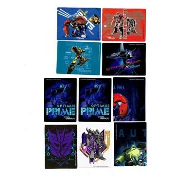 Transformers Prime oryginalne naklejki Hasbro Prom