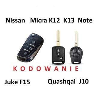 Kodowanie  kluczy Nissan Juke F15 Micra K13