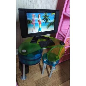 Biurko i komputer dla Barbie