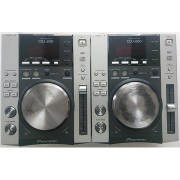 Konsola DJ 2 x Pioneer CDJ 200 + Mixer Behringer