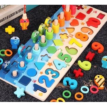 Gra/układanka Montessori Fish&Count