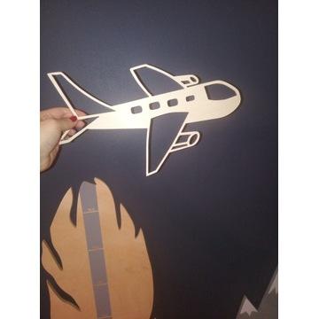 Drewniany samolot na ścianę