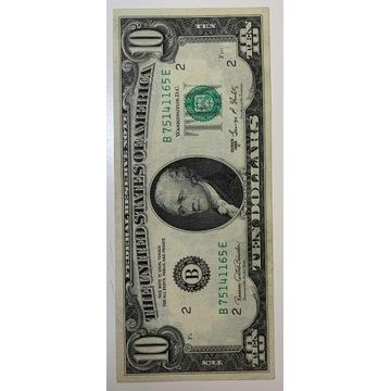 10 dolarów 1969 r.stan bardzo dobry