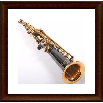 Saksofon sopranowy K.GLASER prosty czarny M228