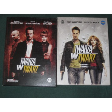 TWARZĄ W TWARZ   [SEZON 1+ SEZON 2]    (8 DVD)