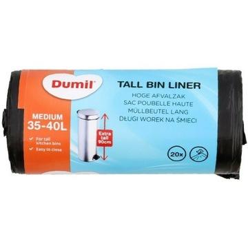 Worki na śmieci DŁUGIE Dumil20 sztuk  35-40 litrów