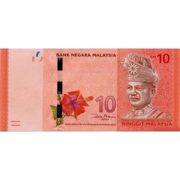 Malezja 10 ringgit Używany banknot