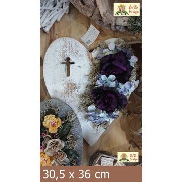 Stroik na cmentarz (znicze, wkłady, aniołki, dekor
