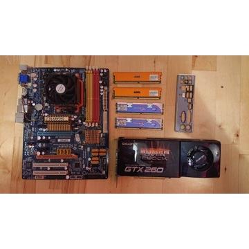 ZESTAW PŁYTA GŁÓWNA+ GTX260 + ATHLON II + 4GB RAM