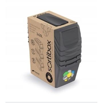Pojemnik Kosz na śmieci 3x20l sortibox segregacja