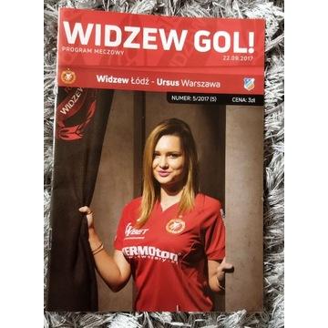 Program meczowy Widzew Łódź - Ursus Warszawa 2017