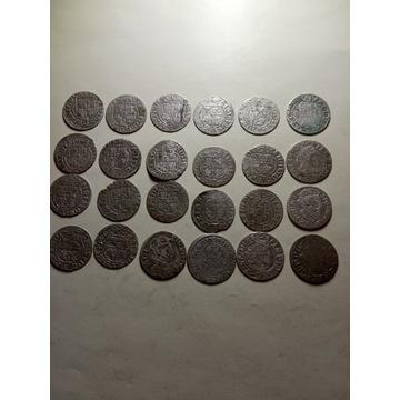Zestaw 24 monet XVII w.