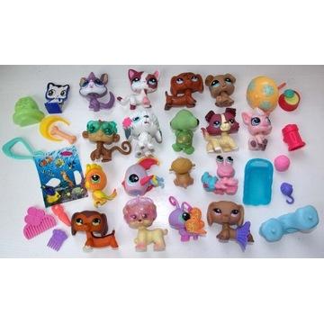 Figurki LPS Pet Shop kotek piesek akcesoria 17 szt