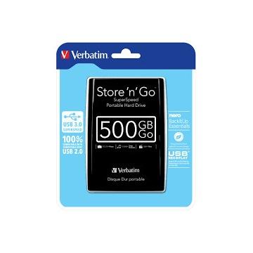 DYSK ZEWNĘTRZNY VERBATIM 500GB USB 3.0