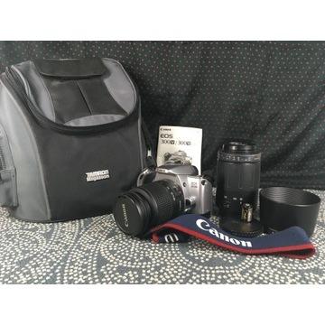Aparat Canon Eos300V + 2 obiektywy + pokrowiec