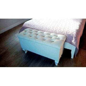 Pufa ławka z pojemnikiem pikowana