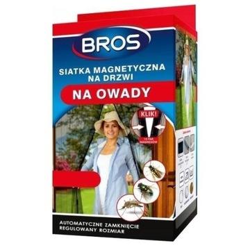Bros -Siatka na drzwi magnetyczna 160x220 czarna