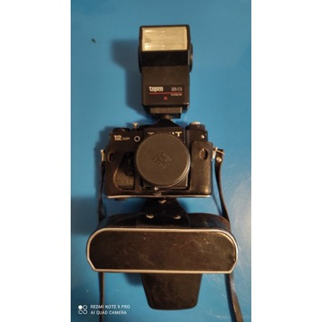 Aparat fotograficzny Zenith 12XP + lampa błyskowa