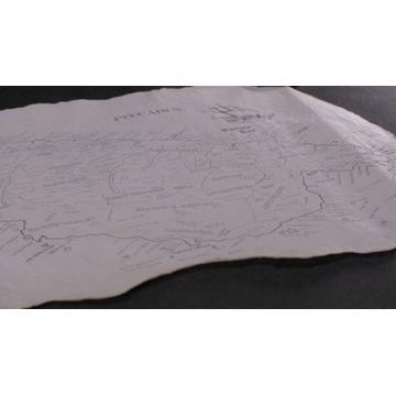 Mapa Pitcairn stylizowana na staro