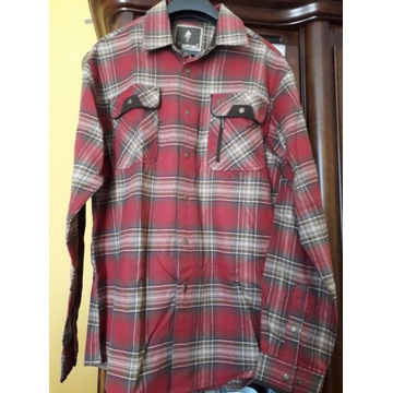 Koszula męska flanelowa / Pinewood/ roz L w kratę