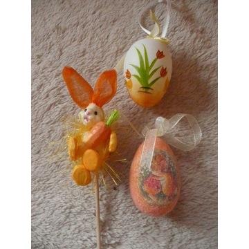3szt. ozdoby wielkanocne jajka + króliczek