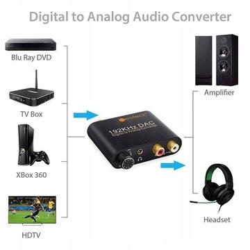 Przetwornik cyfrowo analogowy DAC wzmacniacz słuch