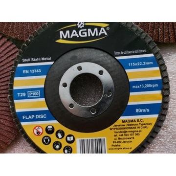Tarcza do stali metalu 115mm gr.36 Magma listkowa