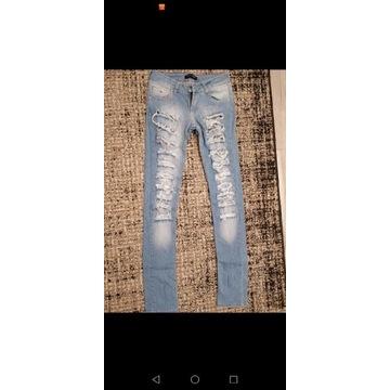 Zestaw 10 par jeansów, roz S