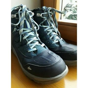 QUECHUA DECATHLON buty zimowe śniegowce r.38